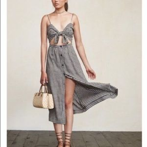 Reformation Riley Dress in Gingham